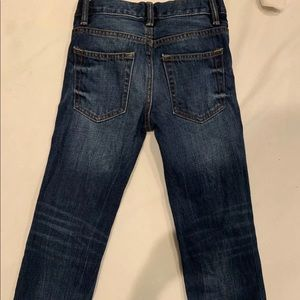 little girls Gap blue jeans size 6 slim EUC